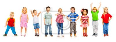 Plakat Połączenie małych dzieci stałego samodzielnie