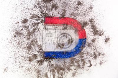 Pole Magnetyczne Nauka Polem Magnetycznym Fizyka Pole Magnetyczne Plakaty Redro
