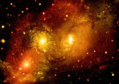 Plakat Pole Star w przestrzeni kosmicznej i mgławic