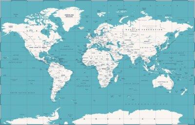 Plakat Political Vintage World Map Vector