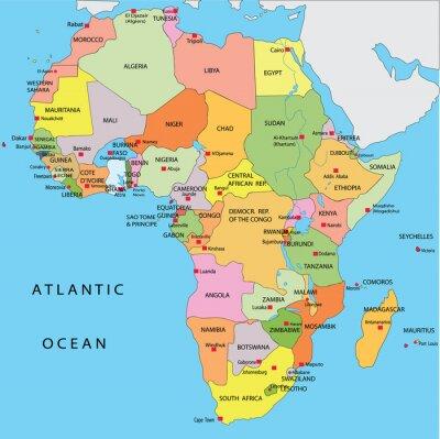 Plakat Polityczna mapa Afryki