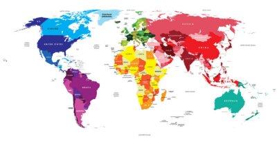 Plakat Polityczna mapa świata