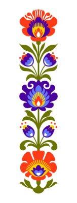 Plakat Polski folk kwiaty Papercut