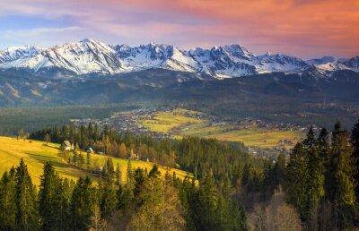 Polskie Góry Tatry O Zachodzie Słońca Plakaty Redro