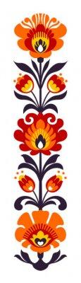 Plakat Polskie ludowe kwiaty Papercut