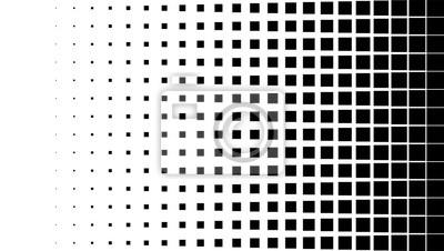 Plakat Półtonów tła, kwadratowe kształty spot, vintage lub retro graficzny z miejscem na tekst. Półtonów efekt cyfrowy.