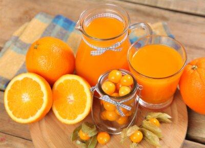 Plakat pomarańczowy napój
