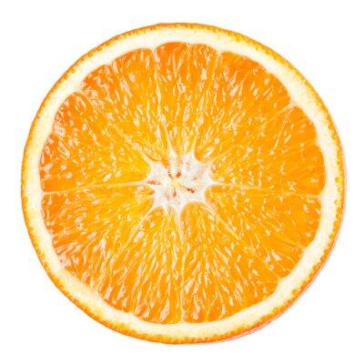 Plakat Pomarańczowy plasterek na białym tle