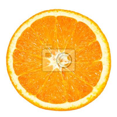 Plakat pomarańczowy plasterka
