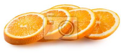 Plakat pomarańczowy plasterki samodzielnie na białym tle