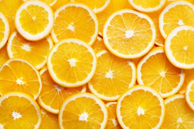 Plakat Pomarańczowy plasterki tła
