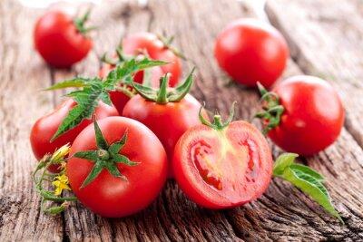 Plakat Pomidory, gotowane z ziół dla zachowania
