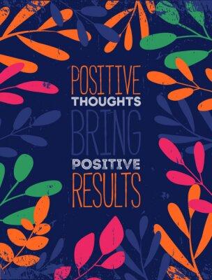 Plakat Pomyśl pozytywne cytat typograficzne tło projektu