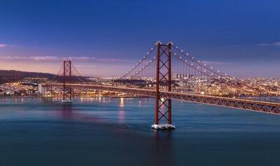 Plakat Pont 25 avril Lisbonne Portugal
