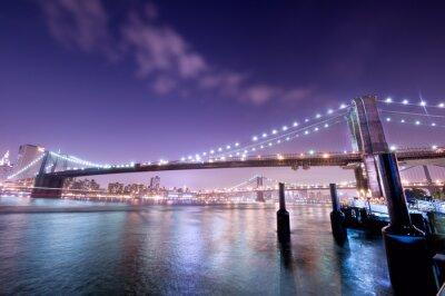 Plakat pont de new york de nuit