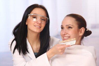 Plakat Porównując teeths cierpliwych