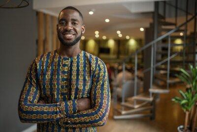 Plakat Portrait black african businessman wearing traditional clothing