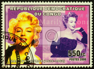 Plakat Portrait of actress and singer Marilyn Monroe on postage stamp