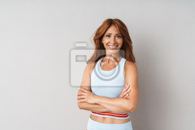 Plakat Portrait of an attractive middle aged woman