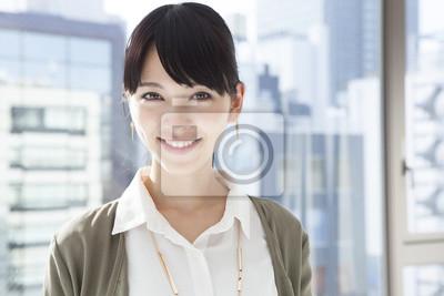 Plakat Portrait of beautiful Asian woman