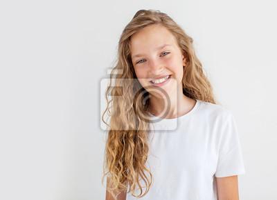 Plakat Portrait smiling young girl teen