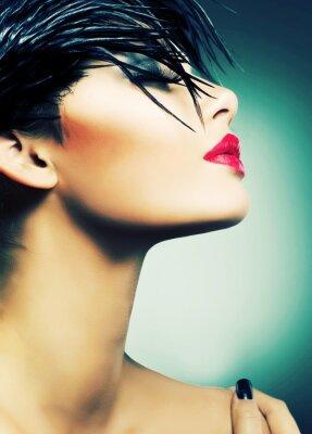 Plakat Portret Art Fashion pięknej dziewczyny. Vogue Style Woman