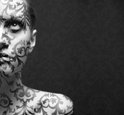 Plakat Portret dziewczyny z make -up