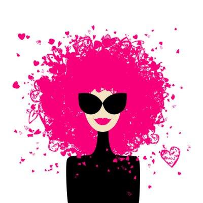 Plakat Portret kobiety do projektowania mody