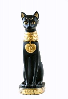 Plakat posąg egipskiego kota