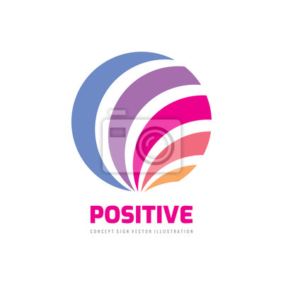 Plakat Positive abstract sphere - vector business logo design.