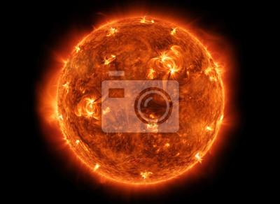 Plakat Potężny Słońce w przestrzeni