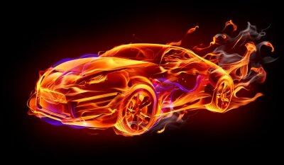 Plakat Pożar samochodu