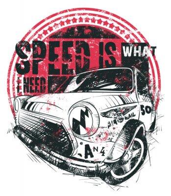 Plakat Prędkość jest to, czego potrzebuję