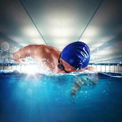 Plakat Profesjonalne pływak