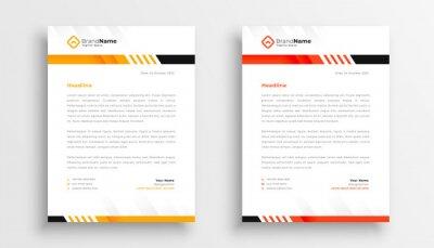 Plakat professional business letterhead template design