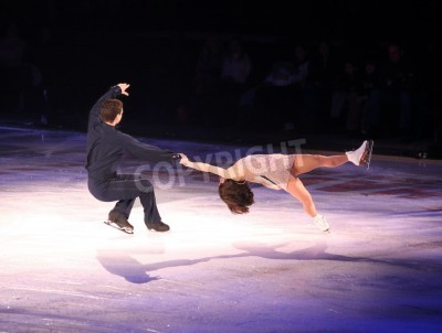 Plakat Professional man and woman figure skaters performing at Stars on ice show