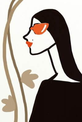 Plakat Profil kobiety