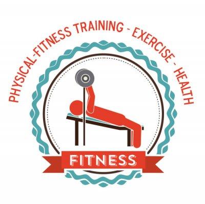 Plakat Projekt fitness i trening