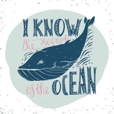 Plakat Projekt koncepcyjny z wieloryba.