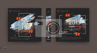 Plakat Projekt okładki broszury streszczenie patch. Czarna ramka informacyjna danych banera. Zestaw modeli arkuszy tytułowych. Nowoczesna strona główna sztuka wektor. Tekstura miasta miejskiego blurb. Ikona