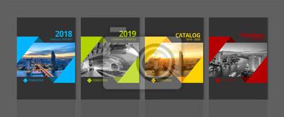 Plakat Projekt okładki na raport roczny katalog biznesowy profil firmy broszura magazyn ulotka broszura plakat transparent. A4 krajobraz szablon elementu wektor pokrywa EPS-10 przykładowy obraz z Gradient Me