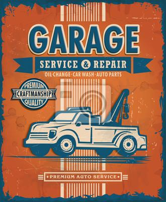 Projekt plakatu Vintage Garage
