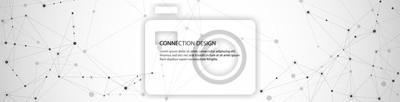 Plakat Projekt transparent wektor, globalne połączenie z linii i kropek