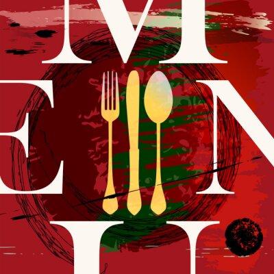 Plakat projektowania menu, jedzenie i picie, wektor