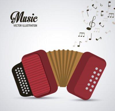 Plakat projektowanie instrumentów muzycznych