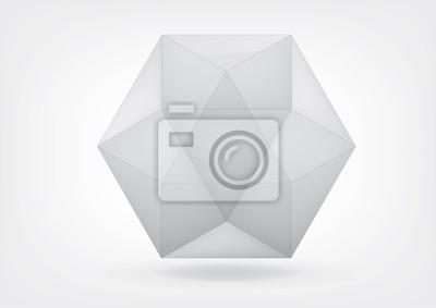 Przejrzyste cuboctahedron do projektowania graficznego