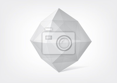 Przejrzysty kryształ wielościan