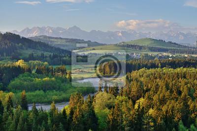 Plakat Przełom Białki- widok na Tatry