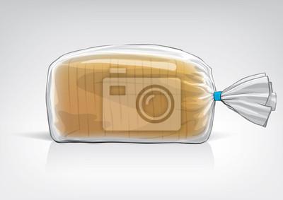 Przezroczysta torba do nowego pakietu chleba projektowania. Sketch style
