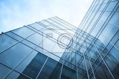 Plakat przezroczyste szklane ściany budynku biurowego